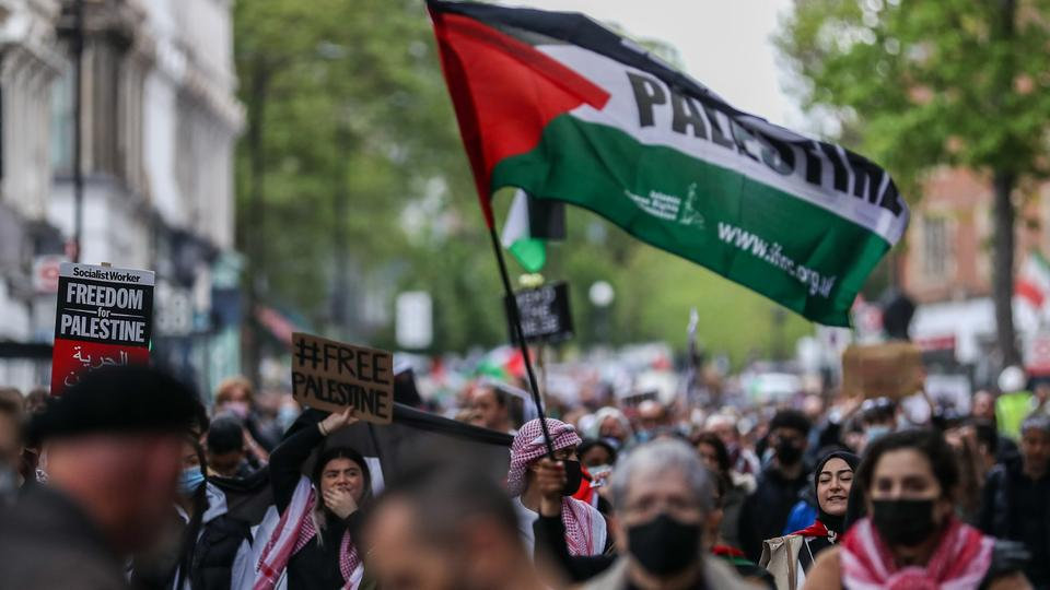 Demonstration in support of Palestine on the streets of Europe