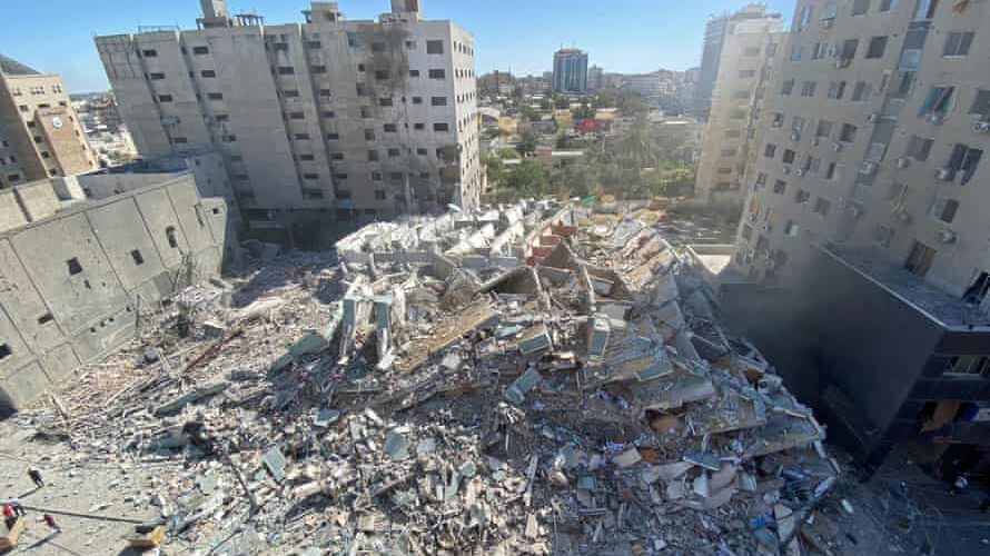 Israeli army cleansed after demolition of building of media offices in Gaza