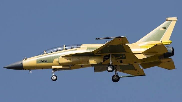 A dual-seat JF-17 of the Pakistan Air Force.